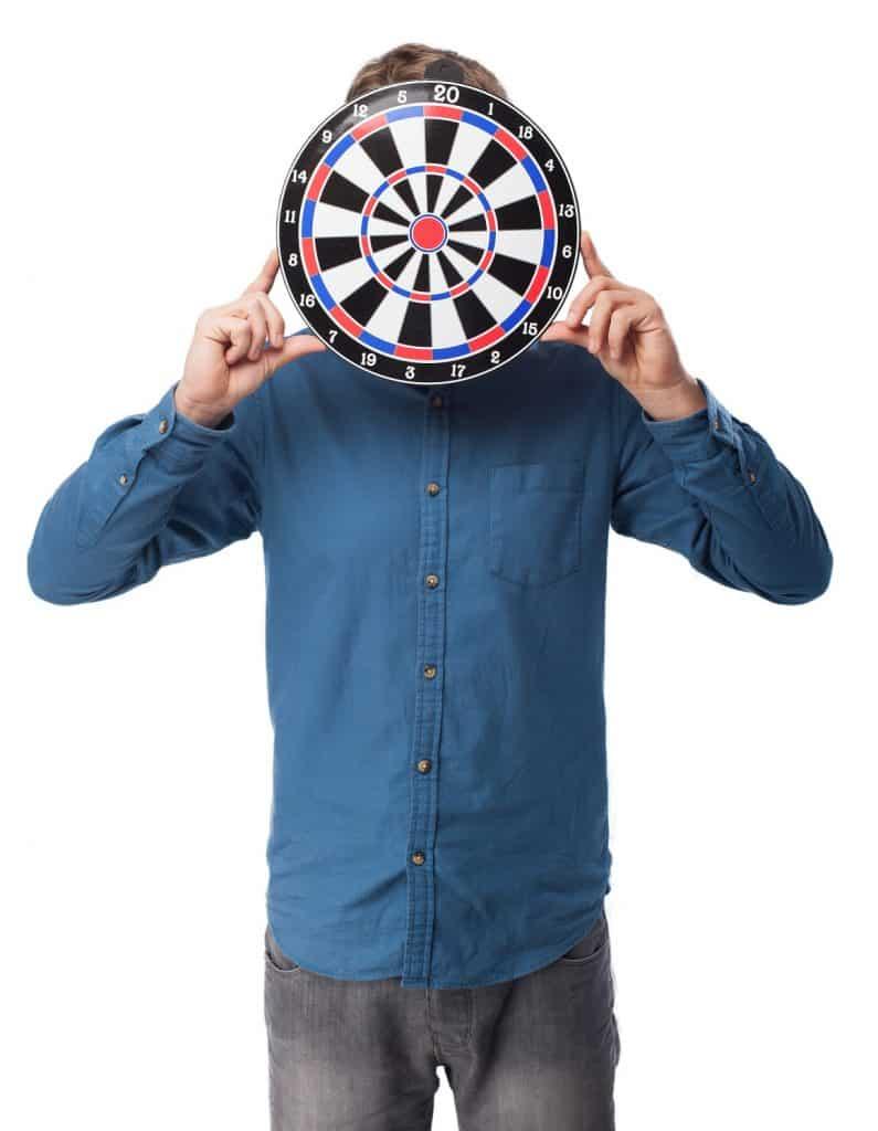 Man Darts Target Blue shirt