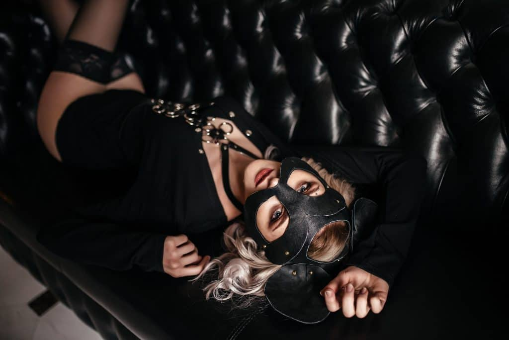catwoman playful on couch