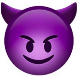 purple smiling face devil emoji