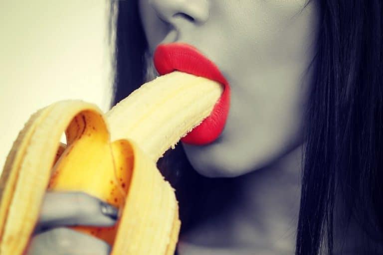 blowjob concept woman with banana