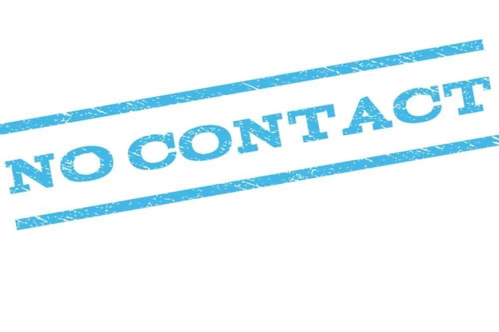 no contact