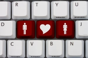 online dating keyboard concept
