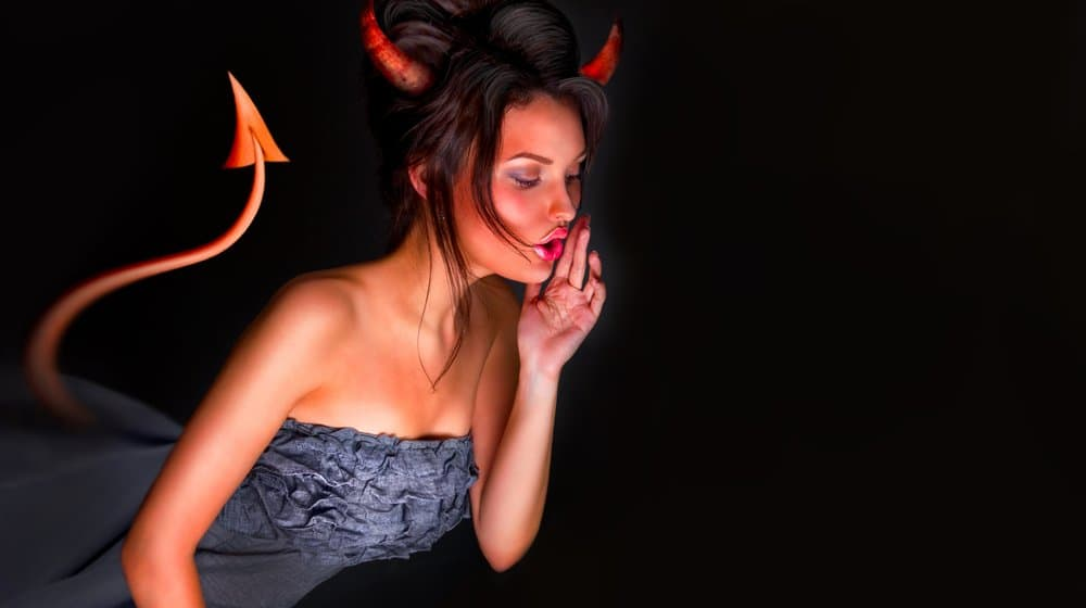 devil woman whispering