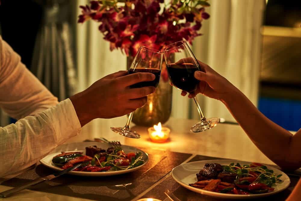 romantic date night dinner