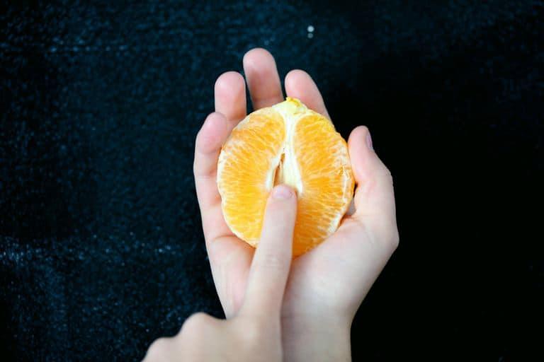 orange shaped like a clitoris