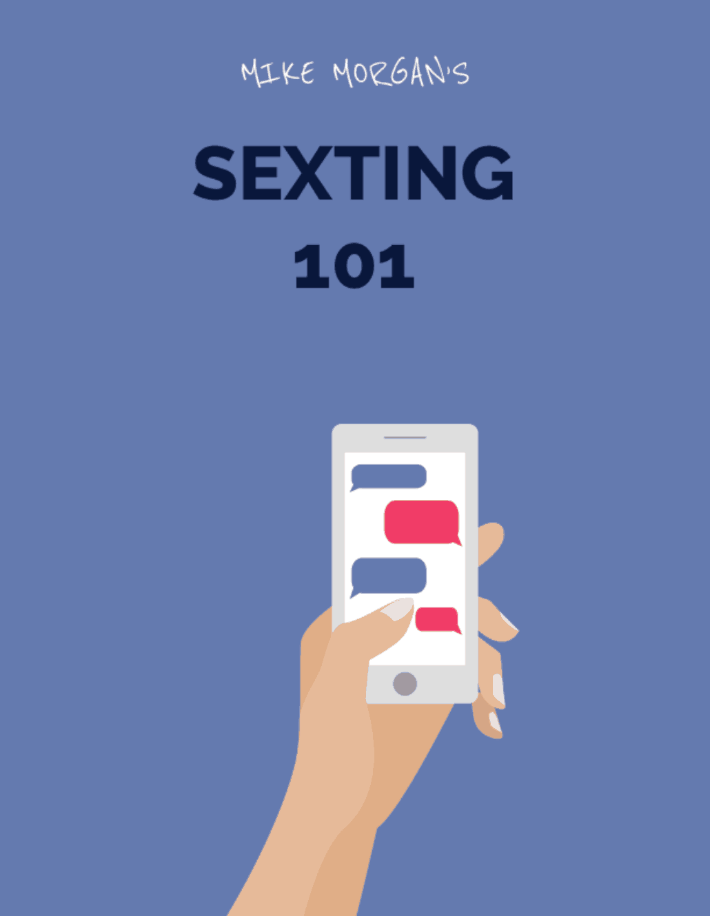 Sexting book cover by Mike Morgan